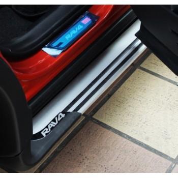 Подножки боковые алюминиевые для Toyota RAV 4 2013-2015